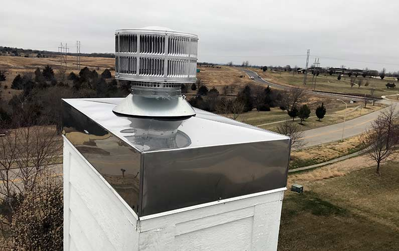 Prefab Chimney Chase Cover Install