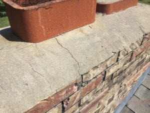 Cracked Crown and Damaged Brickwork needs repairs