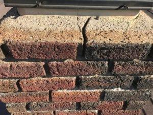 Damaged Masonry Chimney in Bonner Springs needs repair