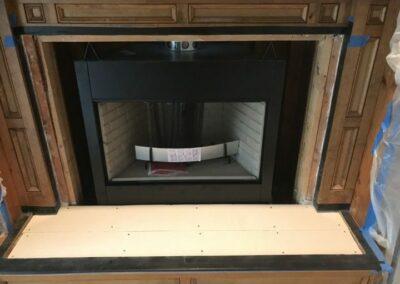 Factory Built Fireplace Installation