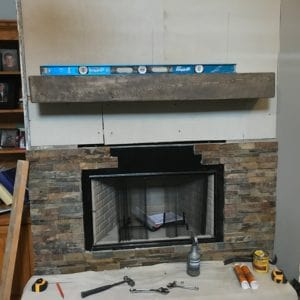 Fireplace Conversion Process during repairs