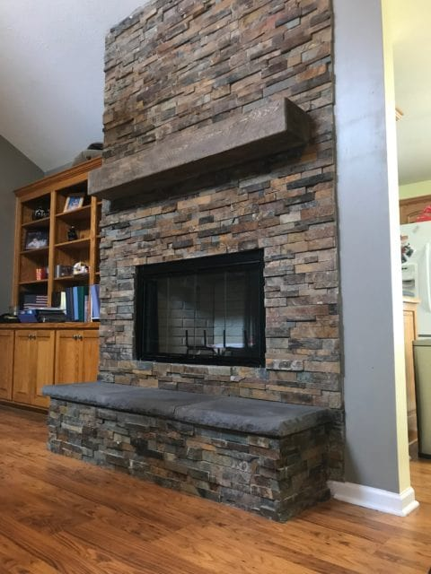 Completed Fireplace Facelift in Leavenworth after repairs