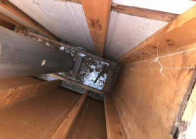 Firestop View From Chimney Top Before Repairs