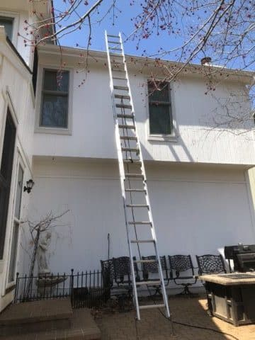 Ladder to Roof for Chimney Inspection
