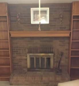 Lee's Summit Fireplace before Repair