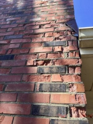 Lee's Summit Chimney Sweep Repairs Reclaimed Brick Chimneys