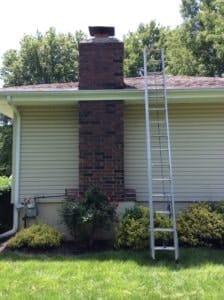 Lenexa, KS Chimney Sweep ladder
