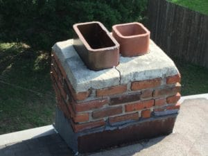 Chimney Missing caps-broken crown in Overland Park needs repair