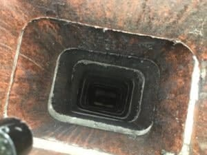 Mission Hills Clay Flue Liner after years of use needs a chimney sweep