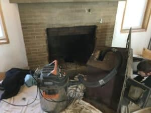 Unlined Fireplace Insert in Osawatomie chimney sweep appointment