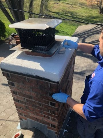 Chimney Sweep Crown Cap Repair in Ottawa, KS