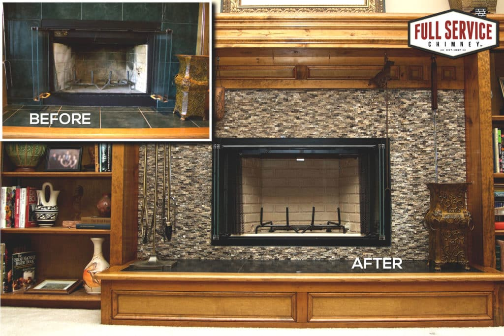 Prefab Fireplace Remodeling Before and After