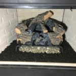 Gas Fireplace with Log Accessories