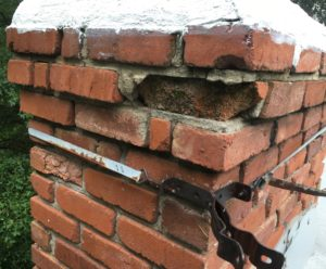 Damaged Brickwork in Raymore, MO needs repair