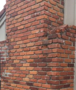 Damaged Brickwork in Raytown needs repairs
