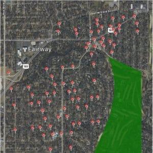 Satisfied Customer Map-Fairway Ks-Full Service Chimney