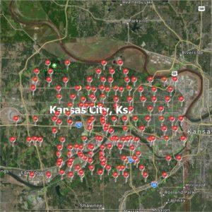 Satisfied Customer Map-Kansas City, KS-Full Service Chimney