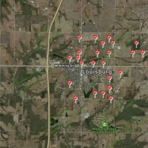 Satisfied Customer Map-Louisburg Ks-Full Service Chimney