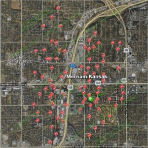 Satisfied Customer Map-Merriam Ks-Full Service Chimney