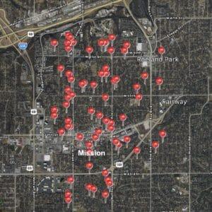 Satisfied Customer Map-Mission Ks-Full Service Chimney