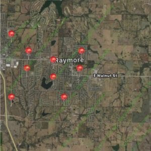 Satisfied Customer Map-Raymore Mo-Full Service Chimney