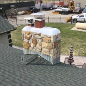 Updated Stone Chimney in Leavenworth after repairs