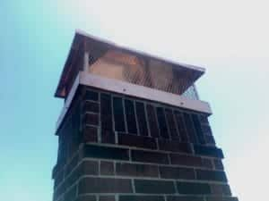 Masonry Chimney with Cap after repairs