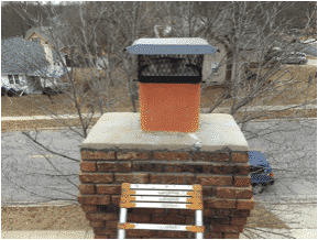 Flue Fire in Olathe Kansas leaves cracks in crown