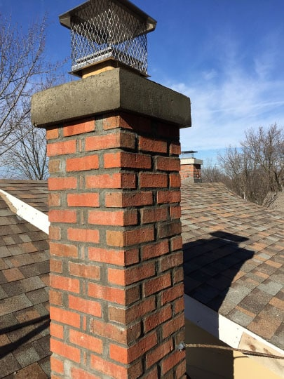 new damper cap and chimney crown brickwork still wet