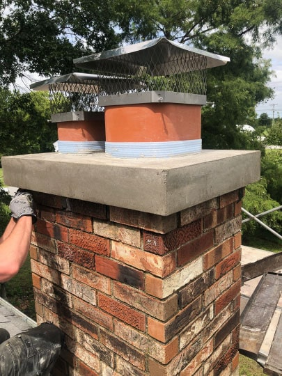 Chimney Cap Crown Repair by Full Service Chimney