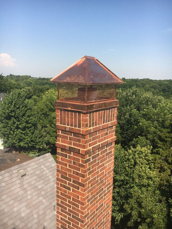Mega Copper Chimney Cap Portfolio