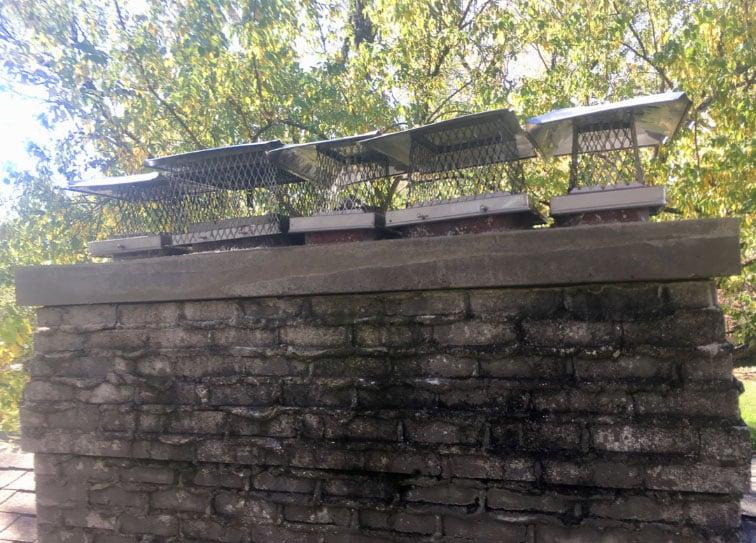 5 Chimney Caps on old chimney