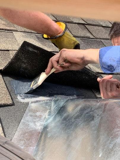 Chimney Cricket Install - Flash Seal Under Shingle