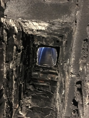 Chimney Relining view from firebox