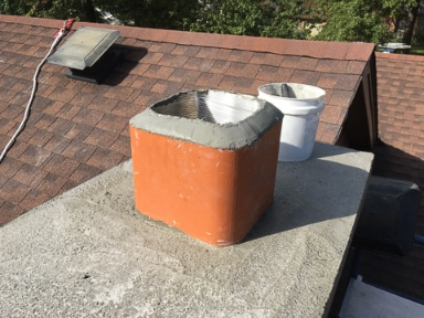 Chimney Relining view from roof