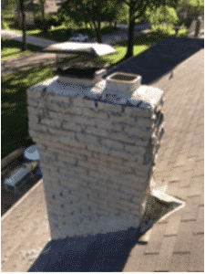Before Picture of brickwork in a Kansas City home