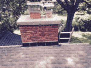 Chimney after completed repairs