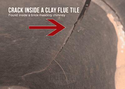 Close Up Crack Flue Tile Liner