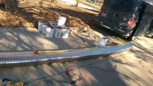 New stainless steel liner needed to reline chimney in Shawnee, Kansas home