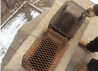 These are the screens that were used as caps on this chimney
