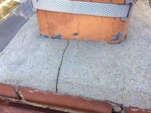 cracks found on chimney crown