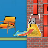 Basement Fireplace Backdraft Graphic