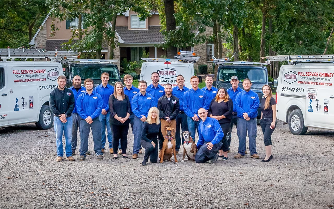 Chimney Sweep Kansas City Team Picture Fall 2019