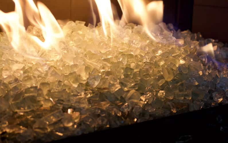 Tempered Fireplace Glass Bits