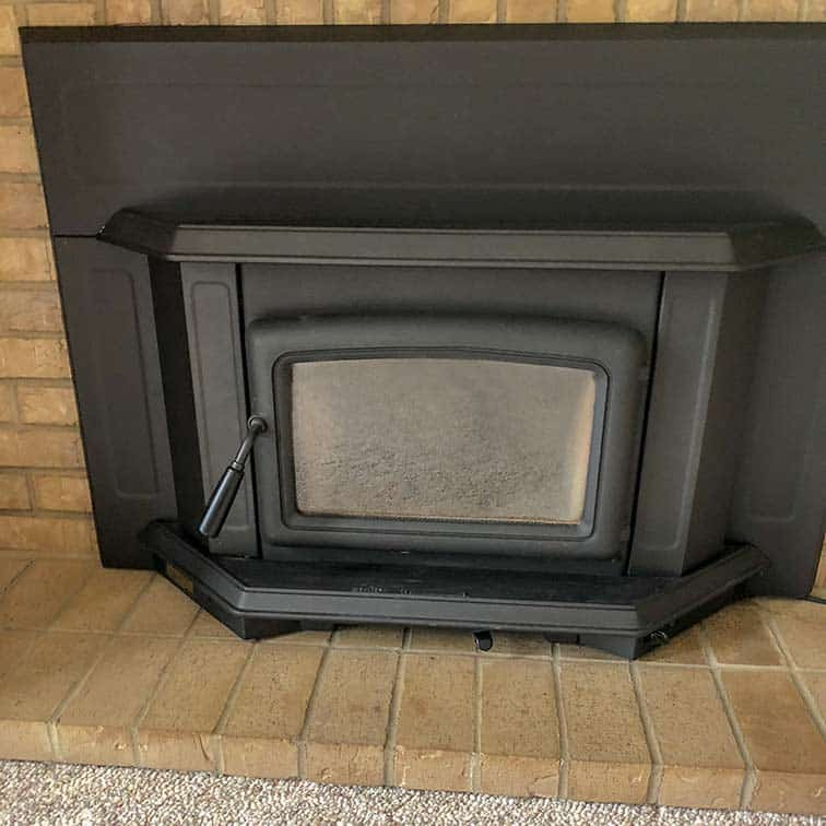 Inserting a Wood-Burning Fireplace