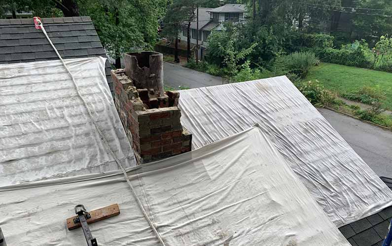 Brick Chimney Flue Liner Repair