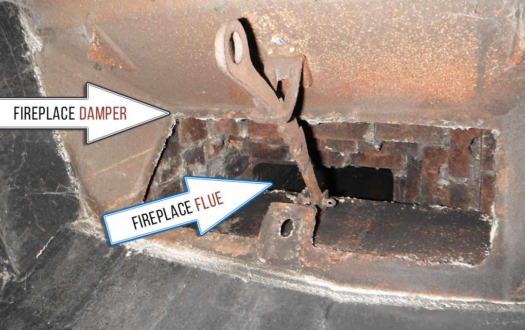 Fireplace Damper vs Fireplace Flue Chimney