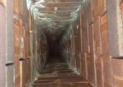 No liner inside Brick Chimney Flue