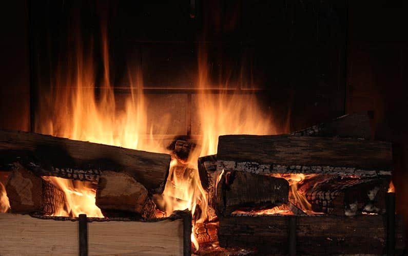 Burning Flames Soft Wood vs Hard Wood