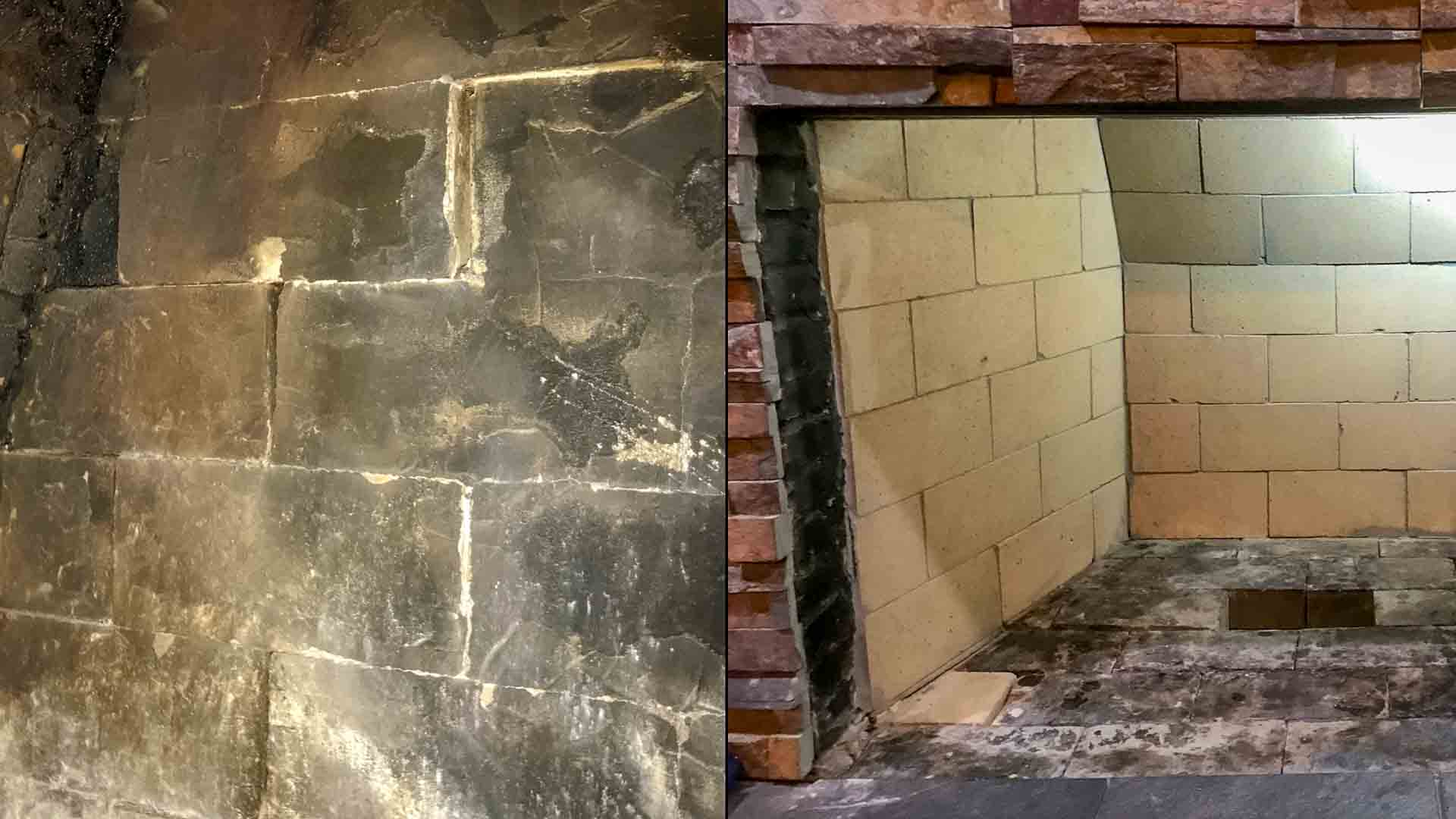 Brick Masonry Fireplace Repair Firebox